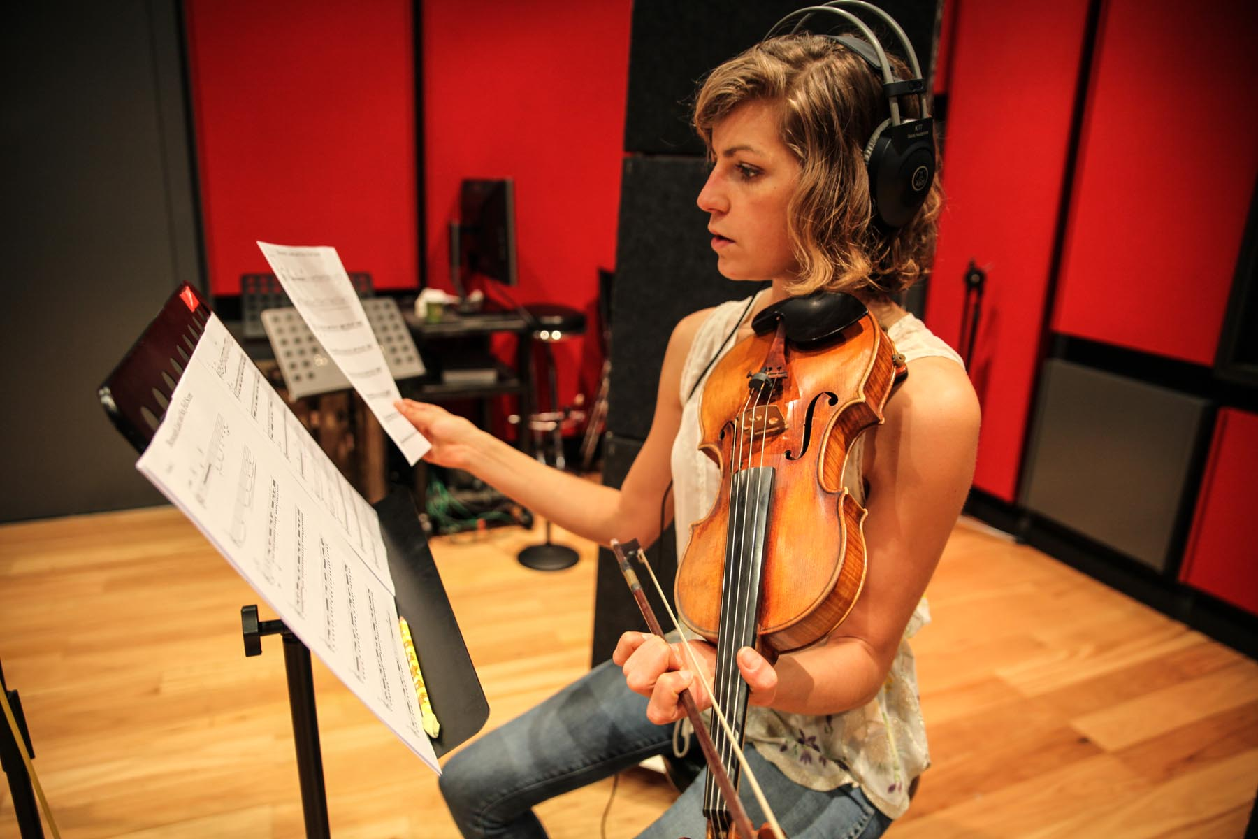 Our musicians have recorded film string parts at Fox Studios, Sydney.